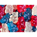 Patriotic Red White & Blue Gummy Bears 1LB Bag