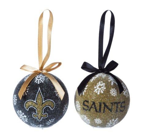 New Orleans Saints Boxed Led Ornament Set
