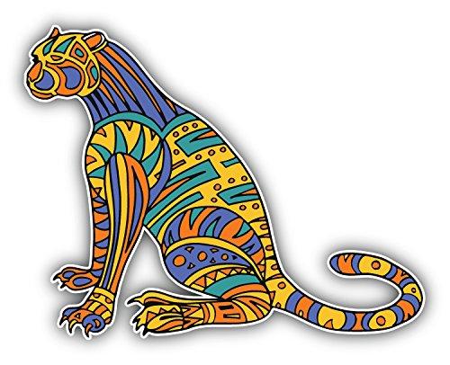 jaguar-animal-doodle-waves-pattern-kunst-dekor-aufkleber-12-x-10-cm