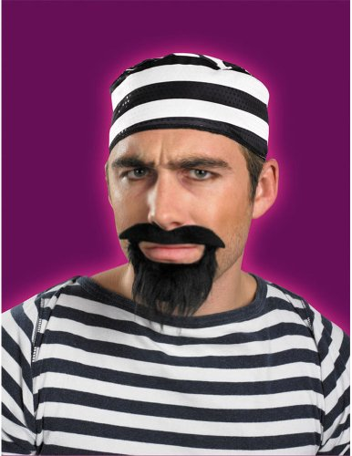 Prisoner Beard And Moustache Costume Accessory