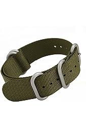 MetaStrap 22mm Nylon Strap Zulu Watch Band (Army Green)