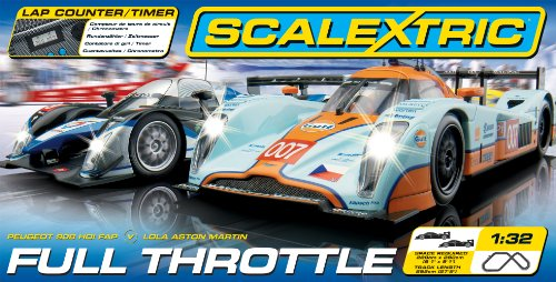 Scalextric C1279 Full Throttle 1:32 Scale Race Set