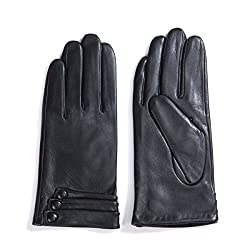 MATSU 9 color Women lady Italian Lambskin Leather winter warm Gloves KU125