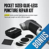 Mini-Bike-Pump-with-BONUS-Glueless-Puncture-Repair-Kit-Fits-Presta-Schrader-No-Valve-Changing-Needed-120-PSI-Mini-Portable-Cycle-Frame-Pump-for-All-On-Off-Road-Tires