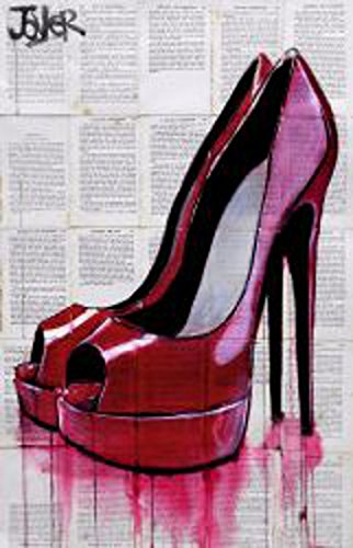 High Life by Loui Jover Vintage Fashion Shoe Heel Poster (Choose Size of Print) (Pictures Of High Heels compare prices)