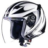 リード工業(LEAD) STRAX SJ-9 ジェットヘルメット ホワイト /L(59~60cm未満)
