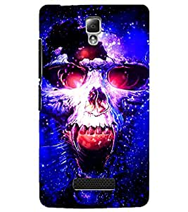 PrintDhaba Skull D-3902 Back Case Cover for LENOVO A2010 (Multi-Coloured)