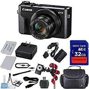 Canon PowerShot G7 X Mark II Digital Camera - Wi-Fi Enabled + 12pc Bundle - International Version