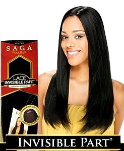 "Saga Remy Hair 100% Human Hair Lace Invisible Part Closure (10"", 1 - JET BLACK)"