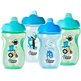 Tommee Tippee BPA Free Non-Spill Training Sippee Sippy Cups, 10 Ounce (Pack Of 4) (Blue & Green & Teal)