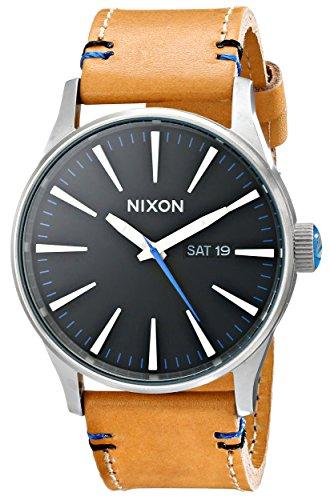nixon-sentry-leather-watch