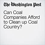 Can Coal Companies Afford to Clean up Coal Country? | Steven Mufson,Joby Warrick