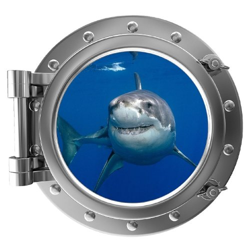 PortScape Instant Sea Porthole Window Shark Wall Sticker