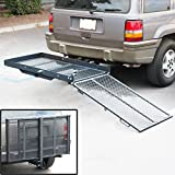 ARKSEN© Fold Up Mobility Carrier Wheelchair Electric Scooter Rack Medical Ramp
