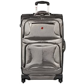 "Swiss 28"" Upright Suitcase - Pewter"