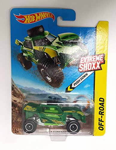 Hot Wheels Extreme Shoxx Off-road Green RIP Shredder Desert Sand Buggy - 1