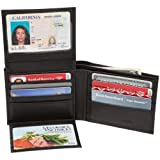 RFID Blocking Pebble Grain Leather Urban Commuter Wallet by NYC Leather Factory Outlet