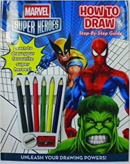 how to draw superheroes book