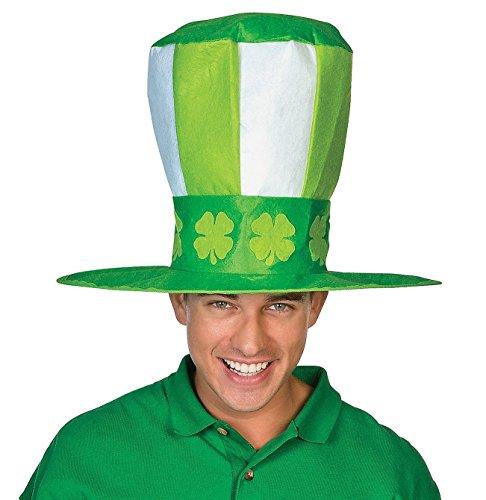 """Jumbo St. Patrick's Day Hat. 10"""" Tall Felt. 22"""" Circ. Felt."""
