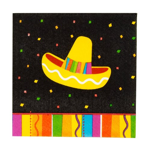 Fun Fiesta Beverage Napkins Package of 16