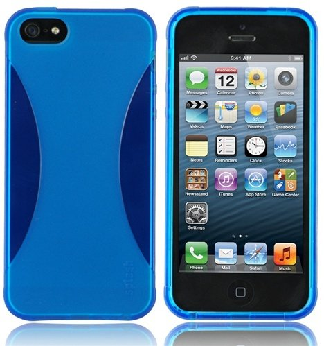 Special Sale Splash Vapor Slim-Fit Flex Case for iPhone 5 Cover - Blue