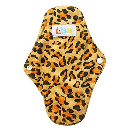 Lbb(Tm) Rusable Micro-Fiber Mama Cloth Menstrual Pads,Leopard