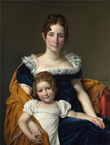 Oil Painting 'Jacques-Louis David-Portrait Of The Comtesse Vilain XIIII And Her Daughter,1816' Printing On High Quality Polyster Canvas , 30x40 Inch / 76x101 Cm ,the Best Kids Room Decoration And Home Decor And Gifts Is This Cheap But High Quality Art Decorative Art Decorative Canvas Prints
