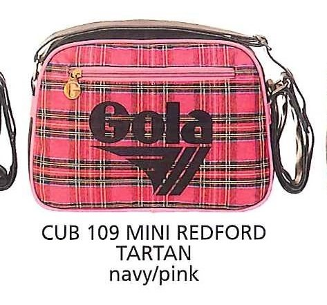 Gola Borsa Tracolla Donna Shoulder mini Bag Retro Vintage redford Tartan navy/pink