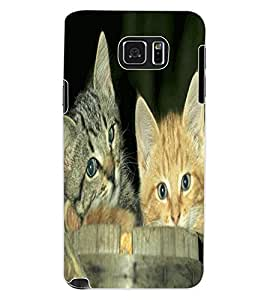 ColourCraft Cute Kittens Design Back Case Cover for SAMSUNG GALAXY NOTE 5
