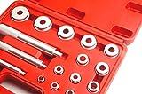ベアリングレースシールドライバーセット 10~42mm ハンドルサイズ全3種 アタッチメントサイズ 全14種 専用ケース付き