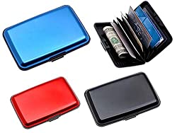 DFS's high quality ALUMINIUM FINISH CREDIT CARD & VISITING CARD HOLDER (Colors may Vary)
