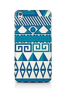 Amez designer printed 3d premium high quality back case cover for HTC Desire 816 (Pattern Design)