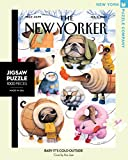 New York Puzzle Company - New Yorker Baby It's Cold Outside - 1000 Piece Jigsaw Puzzle