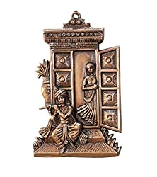 APKAMART Hand Crafted Radha Krishna Wall Hanging - 13 Inch - Religious Wall Hangings for Wall Decor, Home Decor, Room Decor and Gifts