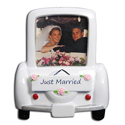 PERSONALIZED CHRISTMAS ORNAMENTS PICTURE FRAME KIT - WEDDING CAR FRAME KIT
