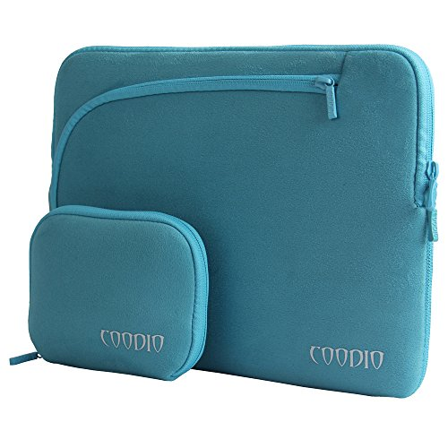 Coodio® Universal 13.3 inch Laptop Sleeve Bag Case Pouch + Accessory Bag for Apple Macbook Air 13, Macbook Pro Retina 13 (Can NOT Fit HP ENVY 4-1100sl and Lenovo Yoga) (Light Blue)