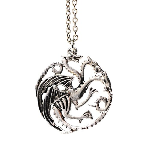 3-dirige-dragon-de-collier-pendentif-argent-targaryen-sigil-game-of-thrones