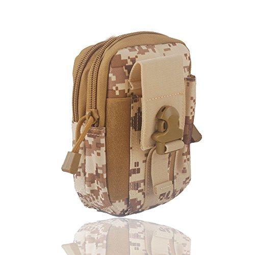 Wasserdichte 1000D Nylon Camouflage Tactical MOLLE Universal-Multifunktions -große Kapazitäts-Outdoor-Camping-Wandern praktische Gerät Beutel (Farbe 6)