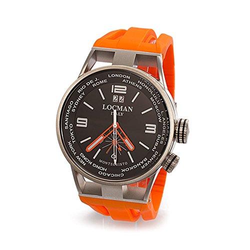 Orologio Uomo Montecristo World Dual Time Ref 508 0508A01S-00BKWHSK - Locman