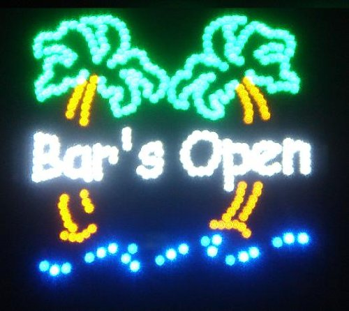 Motion LED Sign - Bar's Open (Open A Bar compare prices)