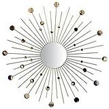 Ashton Sutton Wall Mirror, Silver Rays And Discs