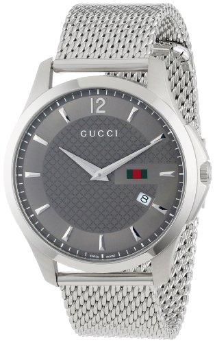 ad489fecc3e Gucci Men s YA126301 Gucci Timeless Anthracite Diamond Pattern Watch ...