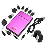 EZOPower Purple 5000mAh 2-Port USB Universal External Rechargeable Backup Battery + USB Travel Charger for Apple iPhone 4, 4S, 3G S, 3G; LG Intuition; Samsung Galaxy S III; HTC EVO 4G LTE, One X Endeavor, One S Ville, Titan II, Vivid / Raider 4G