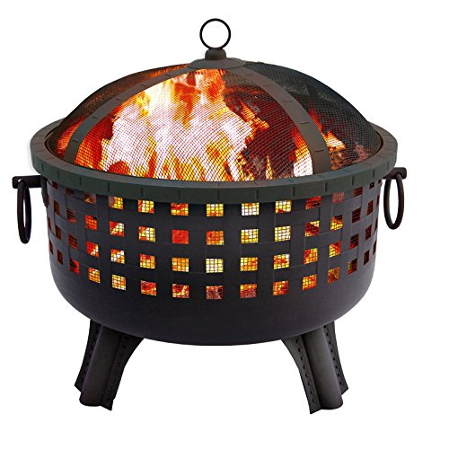 Landmann-USA-Landmann-Garden-Lights-Savannah-285-in-Round-Fire-Pit-Black