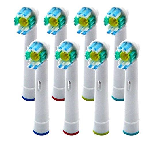 Uca® EB18-4 - 8 pz. Teste di ricambio per Braun Oral-B compatibile con spazzolini elettronici 3D White/PRO Bright