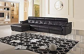 3pc Modern Electric Recliner Sectional Leather Sofa Set - AM-L385-DC