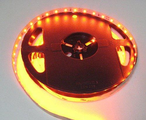 Orange Flexible Led Strips, 5M Spool-12Vdc, Orange (16.4Ft)