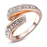 GEORGE SMITHレディース ガールズ リング 指輪 人気 ジュエリー ステンレス リング アクセサリー リング ダイヤモンド 結婚指輪 ピンクゴールド (12)