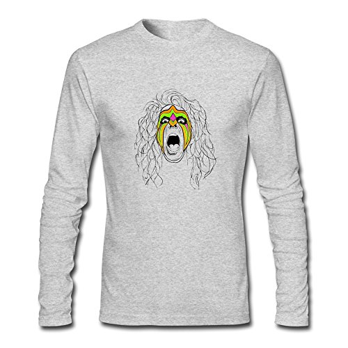 RUIFENG Men's Ultimate Warrior Rip Long Sleeve T-shirt Size XL Heather Gray