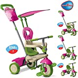 Smart Trike 4-in-1 Vanilla Tricycle - Pink & Green